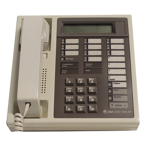 AT&T Definity ISDN 7506 Telephone Misty Cream