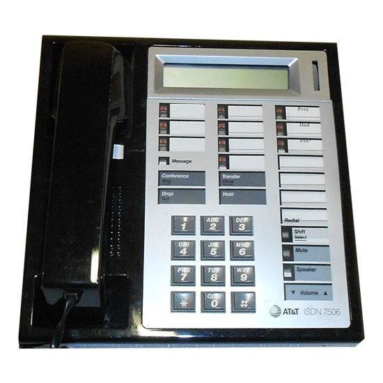 AT&T Definity ISDN 7506 Telephone Black