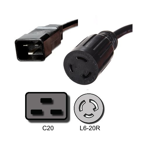 Xtreme P90g Output Cord IEC C20 to L6–20R