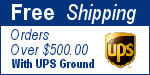 Free Shipping for Orders over $500.00