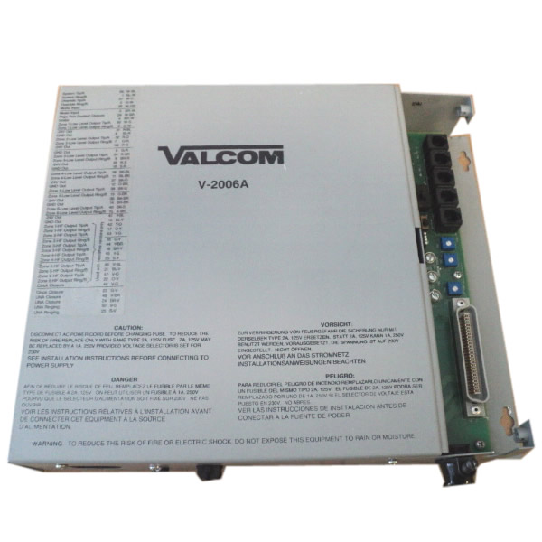 Valcom Six Zone Integrated Page Control (V-2006A)